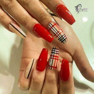 Checkerboard Classy Nails