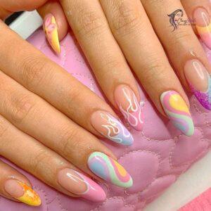 Classy Nails Pastel Swirls