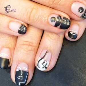 Graphic Classy Nails Edge