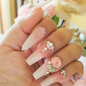 3D Nails For Bridals