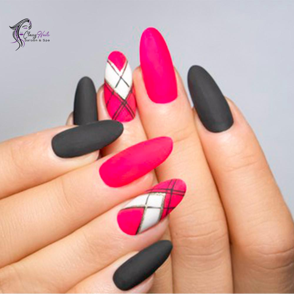 light pink acrylic nails
