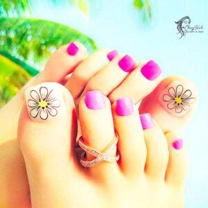 Beach Acrylic Toes