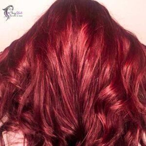 Chocolate Wine Red Highlights