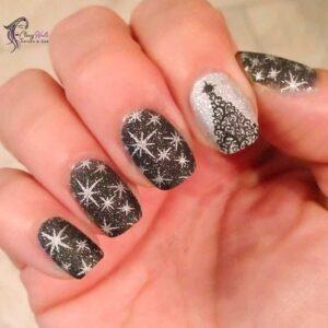 Christmas Stars Nails