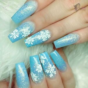 Clear Winter Nails