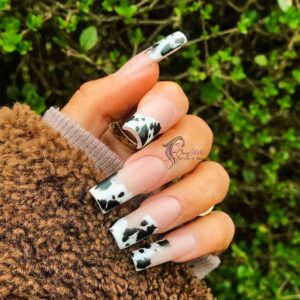 Cow Hide French Manicure