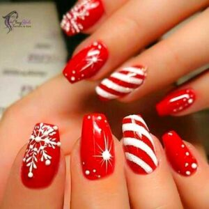 Decorated Christmas nail Ideas