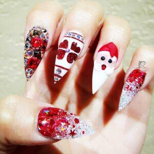 Festive 3D Nails