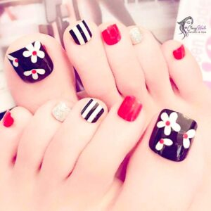 Flower Acrylic Toes