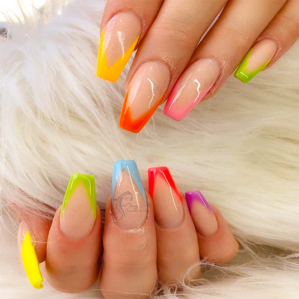 colorful nails