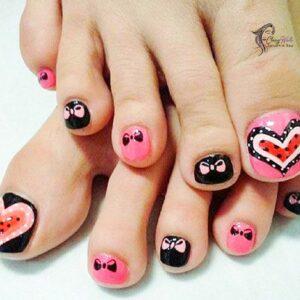 Heart Acrylic Toes