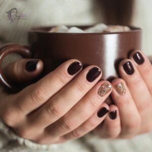 Hot Chocolate Winter Nails