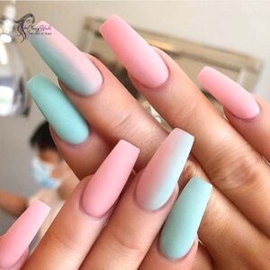 Long Classy Pastel Coffin Nails