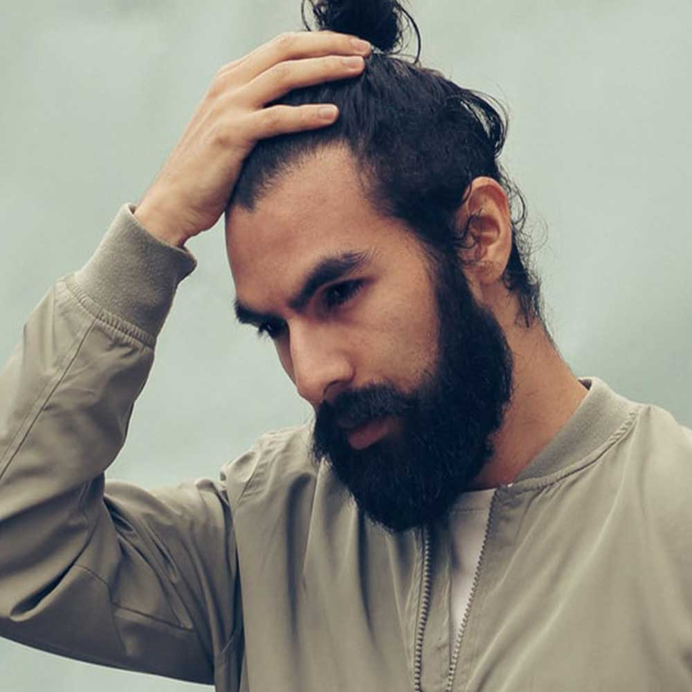 men how to style long hair