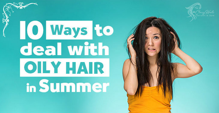 oily summer hair