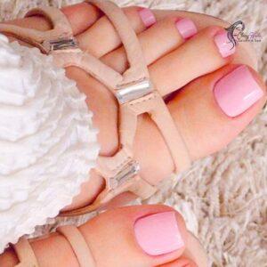 Pale Pink Toenails