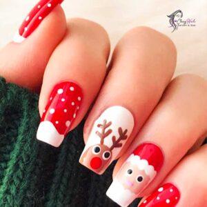 Reindeer Christmas Nail Ideas