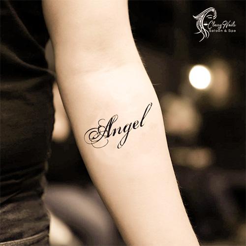 Angel Alphabet Tattoo