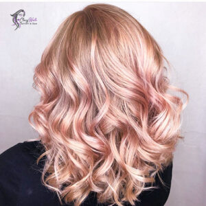 Blonde with rose accents_