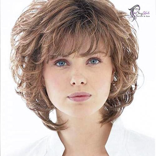 Curled Brown Bob Cute Hairstyles 1