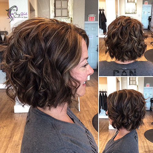 Curled Brown Bob Cute Hairstyles 3
