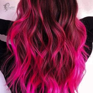 Neon Pink highlights.