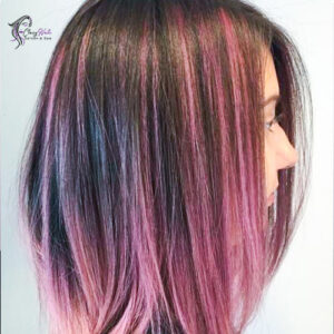 Pink and brown highlights_