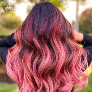 Pink with black highlights_