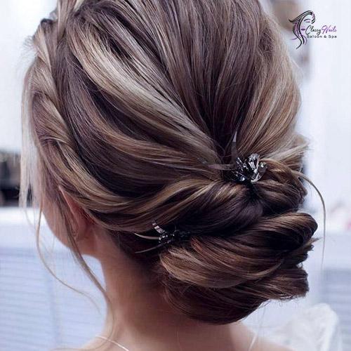 Twisted Bun Cute Hairstyles