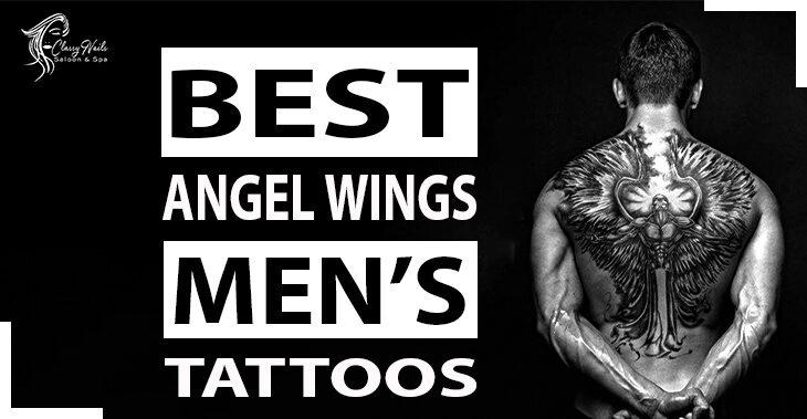 50+ Men's Angel Wings Tattoos   Classy Nails  2021