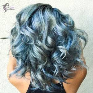 grey blue highlights