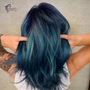 teal blue streaks